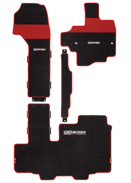 MUGEN Sports Mat Black-Red  For N-BOX JF3 JF4 08P15-XNH-K1S0-RD