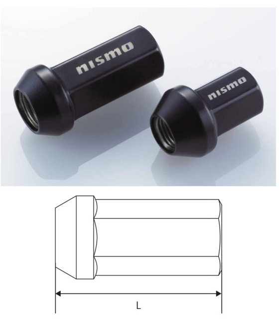 NISMO Racing Nut Long M12xP1.25 (x4)  For Multiple Fitting  40220-RN900