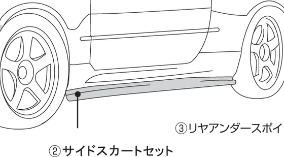 NISMO Side Skirt Set  For Skyline GT-R BNR34  76410-RNR45
