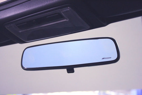 SPOON BLUE WIDE REAR ROOM MIRROR For HONDA FIT GD1 GD3 76400-BRM-001