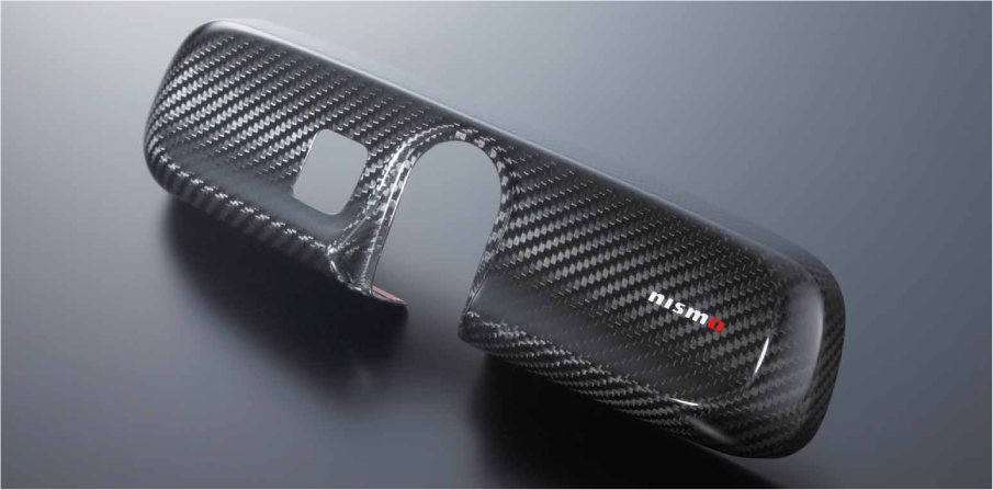 NISMO Carbon Room Mirror Cover  For Leaf ZE0  96325-RN011