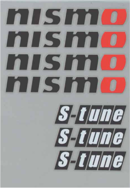 NISMO S-tune Sticker Set (black)  For Multiple Fitting  99992-RN242