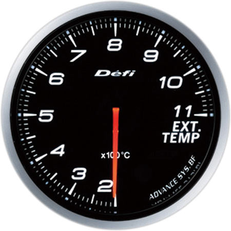 Defi Gauge Meter Advance BF Exhaust Temperature Meter (200 to 1100 degrees C) 60mm White  DF10601