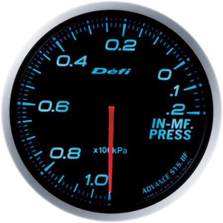 Defi Gauge Meter Advance BF Intake Manifold Pressure Meter (-100kPa to +20kPa) 60mm Blue  DF10103