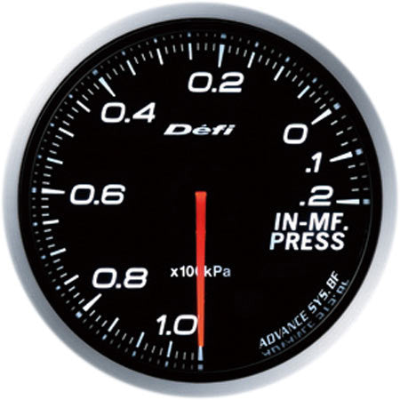 Defi Gauge Meter Advance BF Intake Manifold Pressure Meter (-100kPa to +20kPa) 60mm White  DF10101
