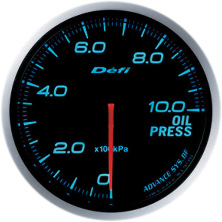 Defi Gauge Meter Advance BF Oil Pressure Meter (0kPa to 1000kPa) 60mm Blue  DF10203