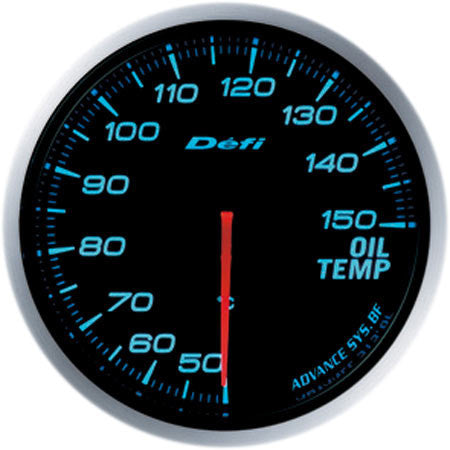 Defi Gauge Meter Advance BF Oil Temperature Meter (50 to 150 degrees C) 60mm Blue  DF10403
