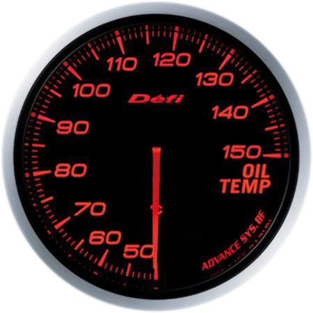 Defi Gauge Meter Advance BF Oil Temperature Meter (50 to 150 degrees C) 60mm Red  DF10402