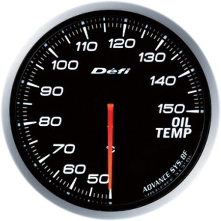 Defi Gauge Meter Advance BF Oil Temperature Meter (50 to 150 degrees C) 60mm White  DF10401