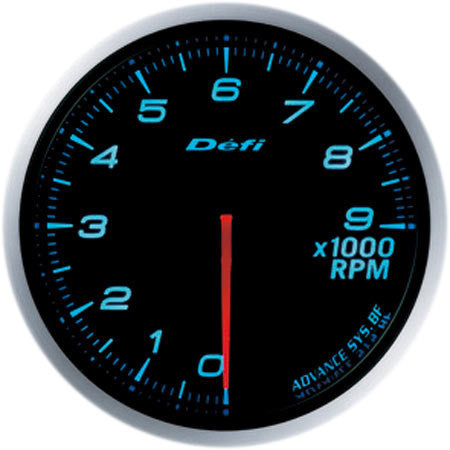 Defi Gauge Meter Advance BF Tachometer (0 to 9000RPM) 60mm Blue  DF10706