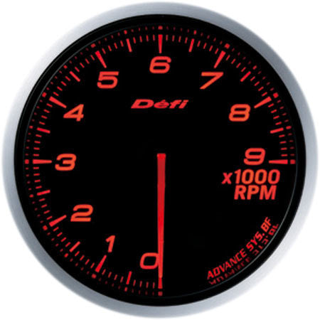 Defi Gauge Meter Advance BF Tachometer (0 to 9000RPM) 60mm Red  DF10705