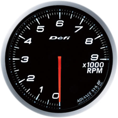 Defi Gauge Meter Advance BF Tachometer (0 to 9000RPM) 60mm White  DF10704