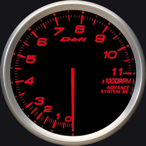 Defi Gauge Meter Advance BF Tachometer (0 to 11000RPM) 80mm Red  DF11002