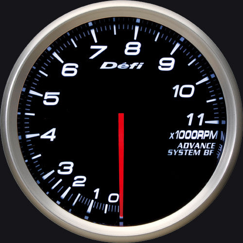 Defi Gauge Meter Advance BF Tachometer (0 to 11000RPM) 80mm White  DF11001