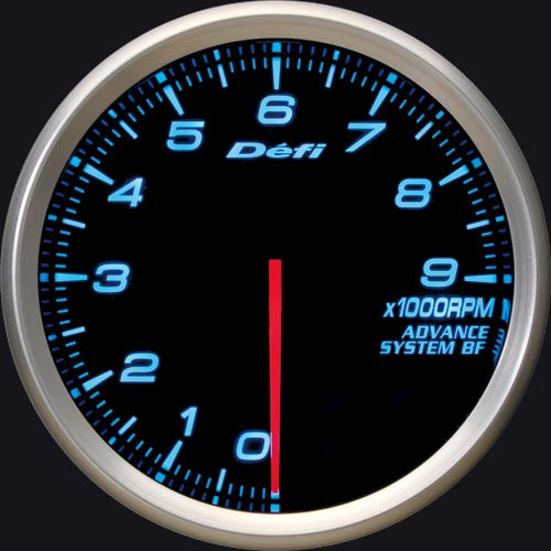Defi Gauge Meter Advance BF Tachometer (0 to 9000RPM) 80mm Blue  DF10903