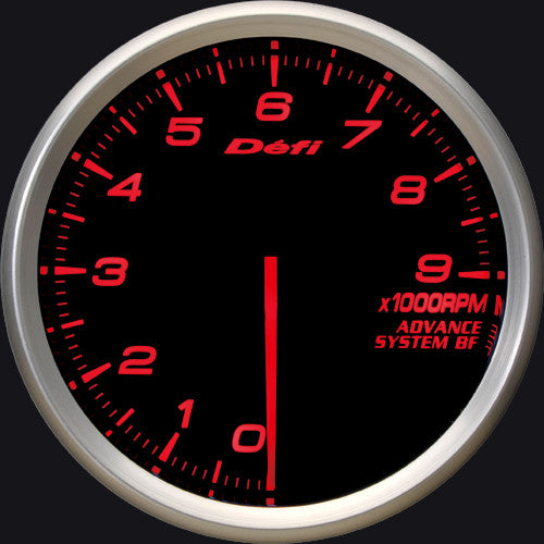 Defi Gauge Meter Advance BF Tachometer (0 to 9000RPM) 80mm Red  DF10902