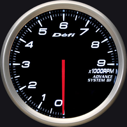 Defi Gauge Meter Advance BF Tachometer (0 to 9000RPM) 80mm White  DF10901