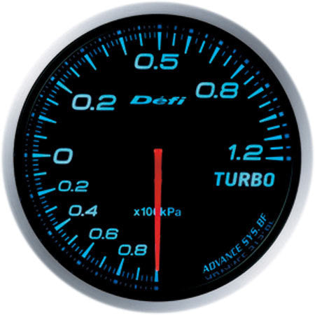 Defi Gauge Meter Advance BF Turbo Boost Meter (-100kPa to +120kPa) 60mm Blue  DF10003