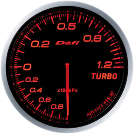 Defi Gauge Meter Advance BF Turbo Boost Meter (-100kPa to +120kPa) 60mm Red  DF10002