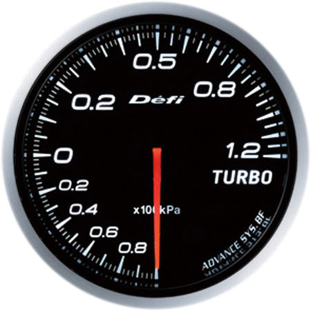 Defi Gauge Meter Advance BF Turbo Boost Meter (-100kPa to +120kPa) 60mm White  DF10001