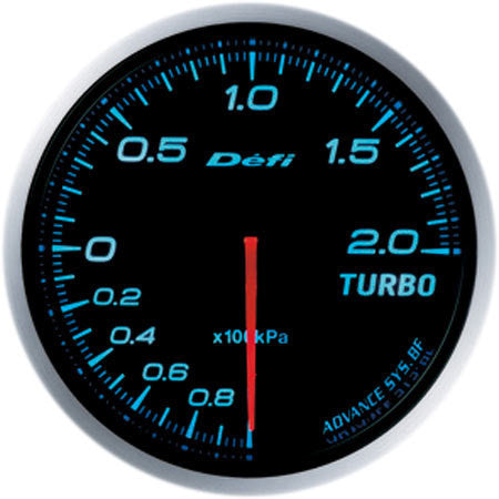 Defi Gauge Meter Advance BF Turbo Boost Meter (-100kPa to +200kPa) 60mm Blue  DF09903