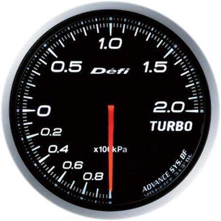 Defi Gauge Meter Advance BF Turbo Boost Meter (-100kPa to +200kPa) 60mm White  DF09901
