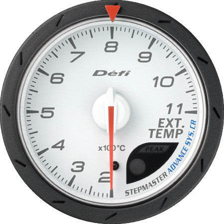 Defi Gauge Meter Advance CR Exhaust Temperature Meter (200 to 1100 degrees C)  60mm White  DF09301