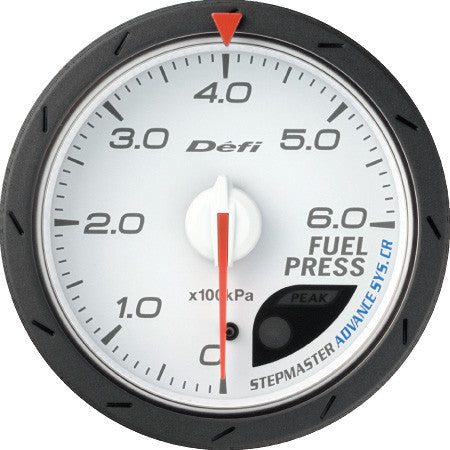 Defi Gauge Meter Advance CR Fuel Pressure Meter (0kPa to 600kPa)  60mm White  DF09001