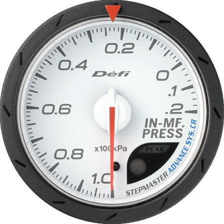 Defi Gauge Meter Advance CR Intake Manifold Pressure Meter (-100kPa to +20kPa) 60mm White  DF08801