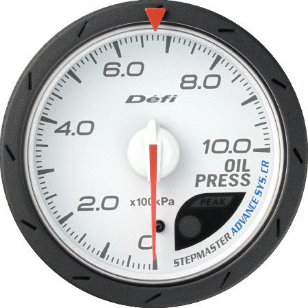 Defi Gauge Meter Advance CR Oil Pressure Meter (0kPa to 1000kPa)  60mm White  DF08901