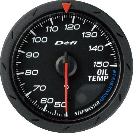 Defi Gauge Meter Advance CR Oil Temperature Meter (50 to 150 degrees C)  60mm Black  DF09102