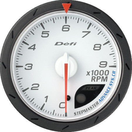 Defi Gauge Meter Advance CR Tachometer (0 to 9000RPM)  60mm White  DF09403