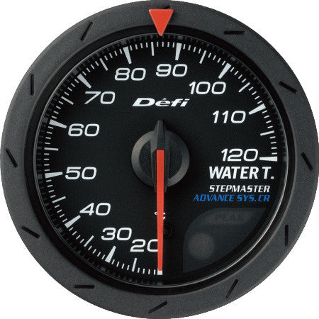 Defi Gauge Meter Advance CR Water Temperature Meter (20 to 120 degrees C)  52mm Black  DF08402