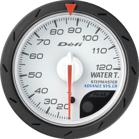 Defi Gauge Meter Advance CR Water Temperature Meter (20 to 120 degrees C)  52mm White  DF08401