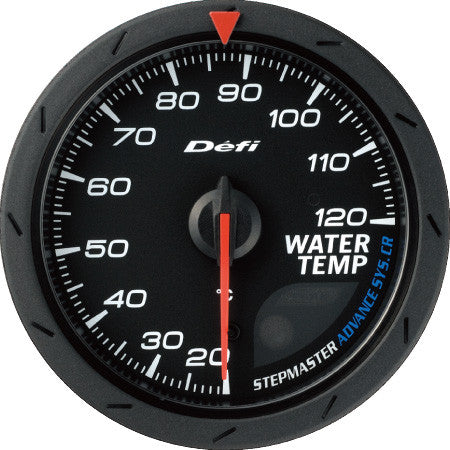Defi Gauge Meter Advance CR Water Temperature Meter (20 to 120 degrees C)  60mm Black  DF09202