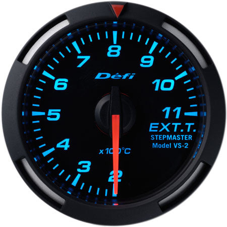 Defi Racer Gauge Exhaust Temperature Meter (200 to 1100 degrees C) 52mm Blue  DF06804
