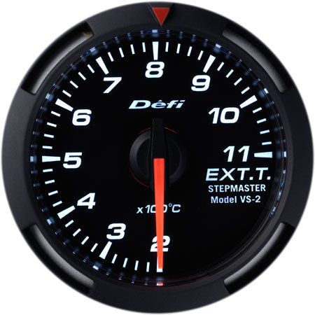 Defi Racer Gauge Exhaust Temperature Meter (200 to 1100 degrees C) 52mm White  DF06806