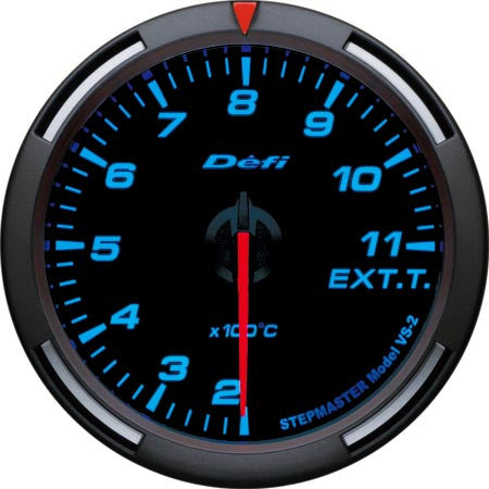 Defi Racer Gauge Exhaust Temperature Meter (200 to 1100 degrees C) 60mm Blue  DF11804