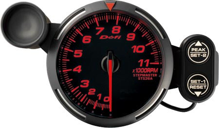 Defi Racer Gauge Tachometer (0 to 11000RPM) 80mm Red  DF12102