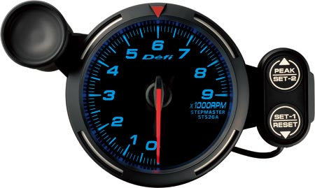Defi Racer Gauge Tachometer (0 to 9000RPM) 80mm Blue  DF12001