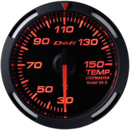 Defi Racer Gauge Temperature Meter (Oil/Water Temperature) (30 to 150 degrees C) 52mm Red  DF06705