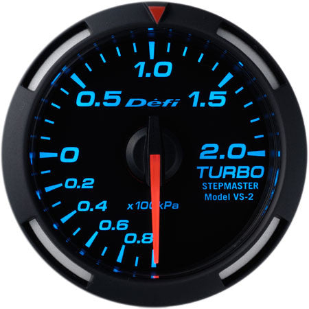 Defi Racer Gauge Turbo Boost Meter (-100kPa to +200kPa) 52mm Blue  DF06504
