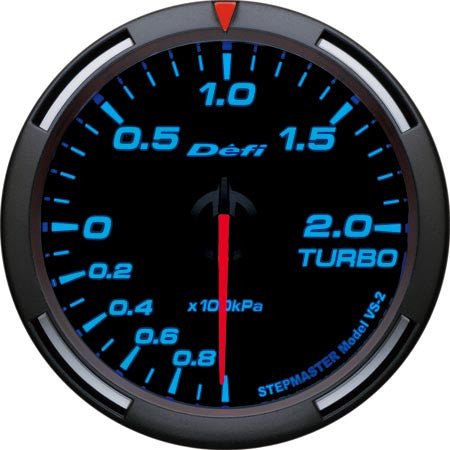 Defi Racer Gauge Turbo Boost Meter (-100kPa to +200kPa) 60mm Blue  DF11504