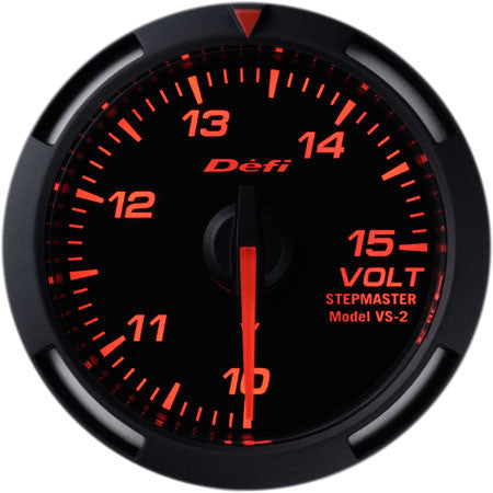 Defi Racer Gauge Voltage Meter (10 to 15V) 52mm Red  DF07005