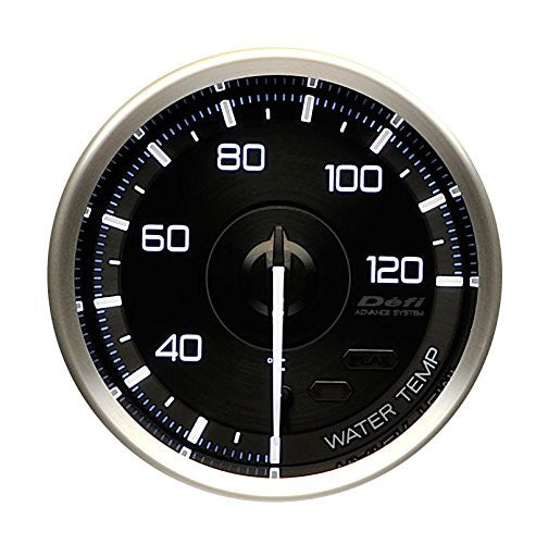 Defi Gauge Meter Advance A1 Water Temperature Meter (20 to 120 degrees C) W/O Sensor  60mm  DF15302
