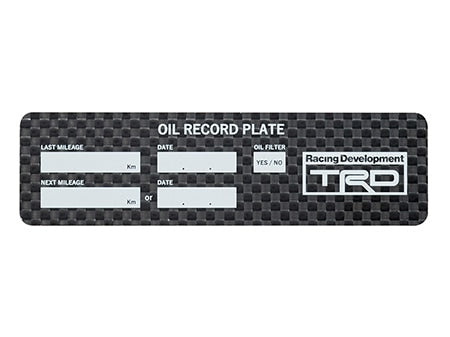 TRD OIL CHANGE PLATE GOODS  MS029-00002