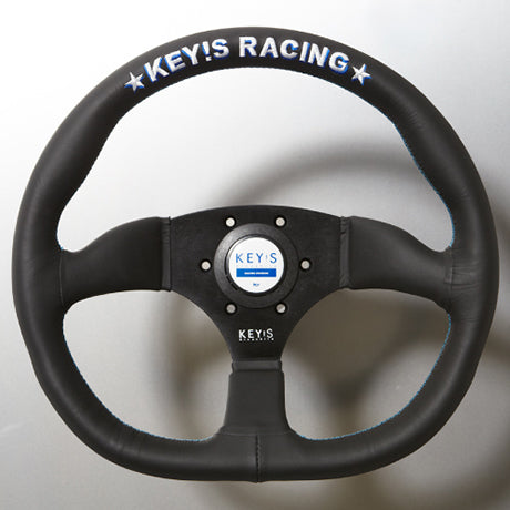 Key's Racing Original Steering Wheel D-SHAPE Smooth Leather 345x320mm  KeysRacing-OS-14