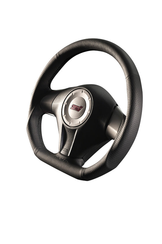 DAMD STEERING WHEEL  For SUBARU FORESTER SG (C ~ F) 03/11 ~ 07/1 SS358-D-F Black stitch