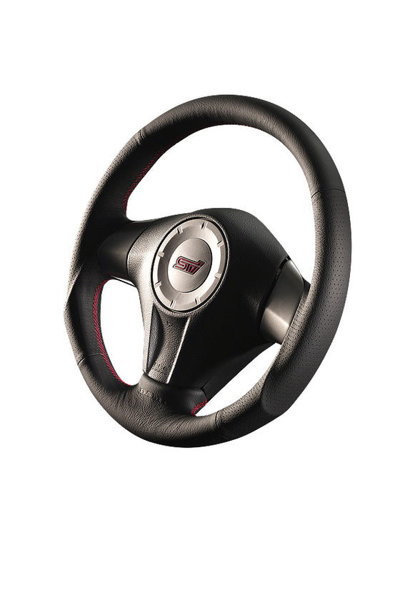DAMD STEERING WHEEL  For SUBARU LEGACY BL BP (D ~ F) 06/5 ~ 08/6 SS358-S-L Red Stitch