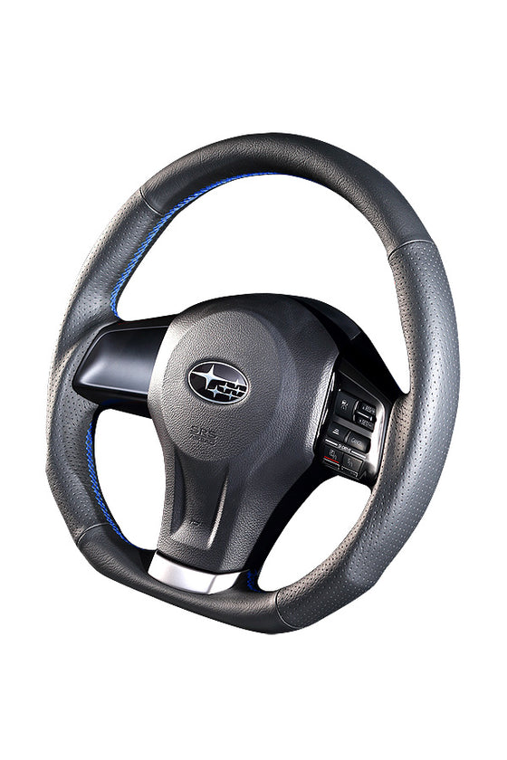 DAMD STEERING WHEEL  For SUBARU LEGACY BM BR (D ~) 12/5 ~ SS360-D Blue Stitch